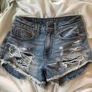 NWOT American Eagle High Wasted Jean Shorts
